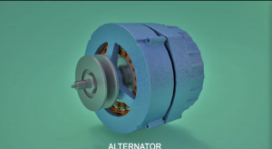 3D model of Alternator - electrical machine