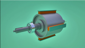 3D model of Four pole Rotor