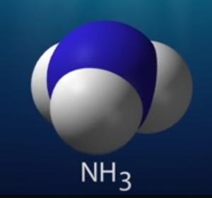 Amoniak molecule (NH3)