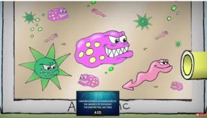 Microorganism grow in anaerobic digestor