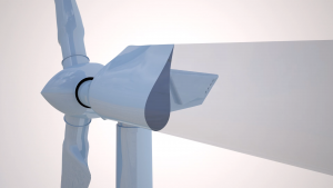 when the wind is blowing the blades are turns the rotor
